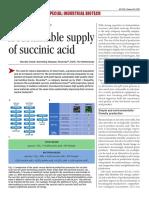 European Technology and Industry-News Sustainable Sucinnic Acid