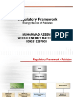 Regulatory Framework of Energy Sector in Pakistan