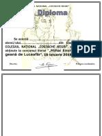 Diploma Eminescu 5