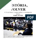 Historia, Volver - Revista Piaui