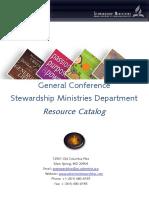 Stewardship Ministries Resource Catalog
