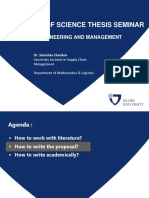 2019 02 15_BSc Thesis - How to Write and How to Work With Literature