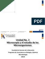 Unidad No. 2. Microscopía y El Estudio de Los Microorganismos
