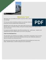 Motorhome Tyre General Guidance 2009