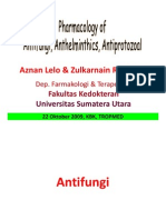 Tmd175 Slide Pharmacology of Antifungi - Anthelminthics - Antiprotozoal