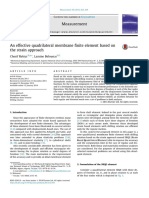 An effective quadrilateral membrane finite element based on the strain approach
