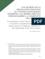 Los aportes de la revolución francesa al constitucionalismo moderno y su repercusión en hispanoamérica a comienzos del siglo XIX