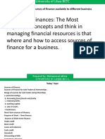 Presentation 6 (Topic Sources of Finance)