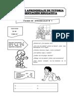 TUTORIA FICHAS 2° GRADO PRIMARIA