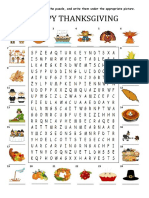 Happy Thanksgiving Wordsearch