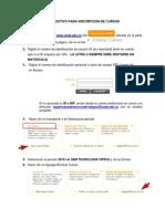 Instructivo Para Inscripción de Cursos (1)