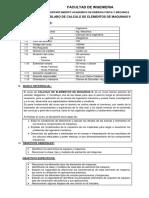 Sylabo Calculo de Elementos de Maquinas II 2019 0
