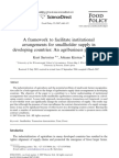 A Framework to Facilitate Institutional Arrangements for Small Holder Supply in Developing Countries an Agribusiness Perspective