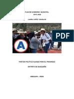 Plan de Gobierno de Laura Isabel Lopez Davalos