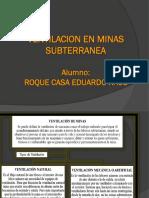 Clases de Ventilacion de Minas