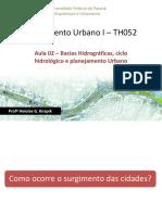 Aula 02 Bacias Hidrográficas Cidades Ciclo Hidrológico