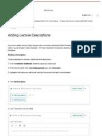 Adding Lecture Descriptions – Udemy