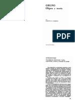 Romero, R. Grupo, Objeto y Teoría. Vol 1.Cap. 1