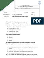 Evaluación de Lenguaje y Comunicación Plan Lector 1