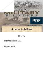 Lsn 6 the Greatest Military Blunders