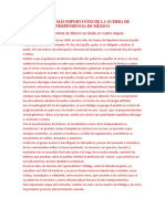 ASPECTOS MÁS IMPORTANTES DE LA GUERRA DE INDEPENDENCIA DE MÉXICO.docx