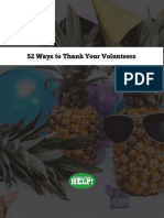 52 Ways to Thank Your Volunteers