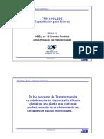 M3 OEE y Las 16grandes Perdidas en Procesos de Transformacion
