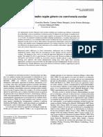 Postigo Et Al. 2009. Diferencias Conductuales Según Género en Convivencia Escolar