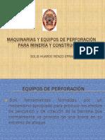 Maquinarias y Equipos de Perforación Para Minería y Construcción
