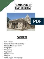 Site Analysis of Kanchipuram