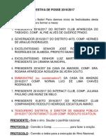 Modelo de Protocolo - Posse
