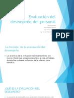 Evaluación Del Desempeño Del Personal U4