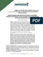 Chagas Radiojornalismo e Seleção Fontes (Conflito de Codificação Unicode)