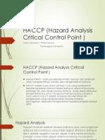 HACCP (Hazard Analysis Critical Control Point