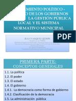 LOS GOBIERNOS LOCALES,  LA GESTIÓN  PUBLICA LOCAL Y EL SISTEMA NORMATIVO