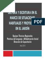 Lectura y escritura en el marco de situaciones habituales y proyectos en el Jard+¡n .pdf