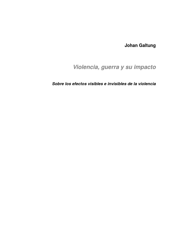 johan galtung conflict resolution pdf