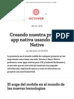 Creando Nuestra Primera App Nativa Usando React Native _ OCTUWEB