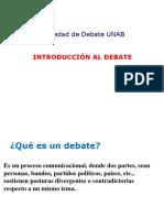 Intro. Al Debate