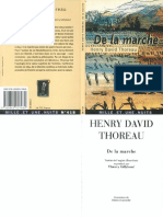 THOREAU, Henry David - De La Marche