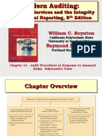 Bj 8e Ch12 Audit Procedures in Response to Assessed Risks Substantive Tests