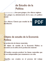1-El Objeto de Estudio de La Economía Política