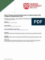 Online Thévenin Equivalent Determination Considering System Changes