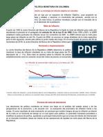 Politica Monetaria en Colombia