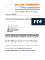 Microsoft Office and Windows Training Course Outline