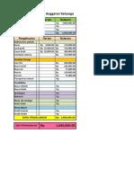 Excel Anggaran