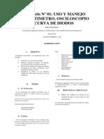 Laboratorio 1 USO Y MANEJO DEL MULTIMETRO, OSCILOSCOPIO Y CURVA DE DIODOS.docx