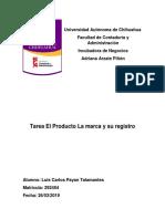 9.3 Tarea - El Producto La marca y su registro.docx