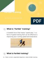 fartlek training