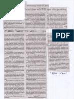 Manila Bulletin, Mar. 27, 2019, Manila Water waives March fees as MWSS eyes other penalties.pdf